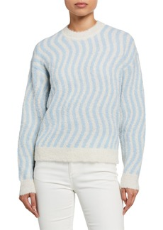 Rachel Comey Powers Wavy Stripe Alpaca Sweater