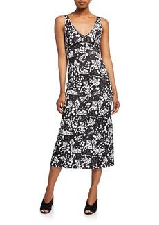 Rachel Comey Prim Printed Sleeveless V-Neck Dress