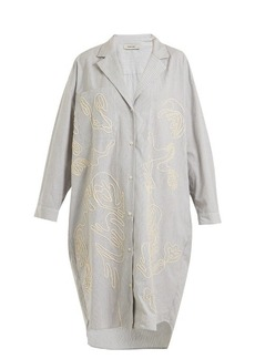 Rachel Comey Risible embroidered striped cotton shirtdress