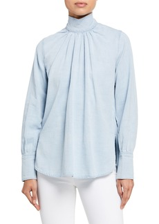 Rachel Comey Rite Turtleneck Denim Top