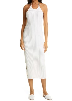 Rachel Comey Salo Ribbed Halter Sweater Dress