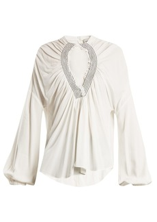 Rachel Comey Siphon smocked cut-out top