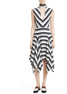 Rachel Comey Stripe Cutout Dress