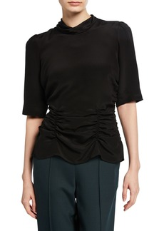 Rachel Comey Trifle Crewneck Silk Top