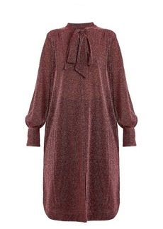 Rachel Comey Upland neck-tie lamé dress
