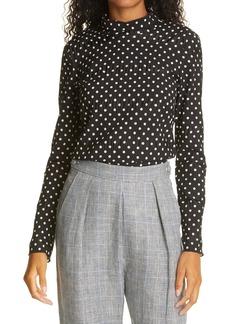 Rachel Comey Varda Polka Dot Silk & Cotton Blend Top