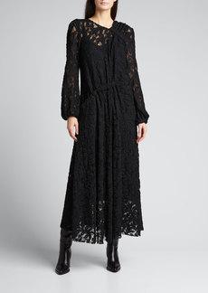 Rachel Comey Warwick Lace Long-Sleeve Maxi Dress