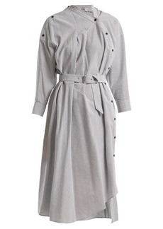 Rachel Comey Welcome asymmetric-detail striped cotton dress
