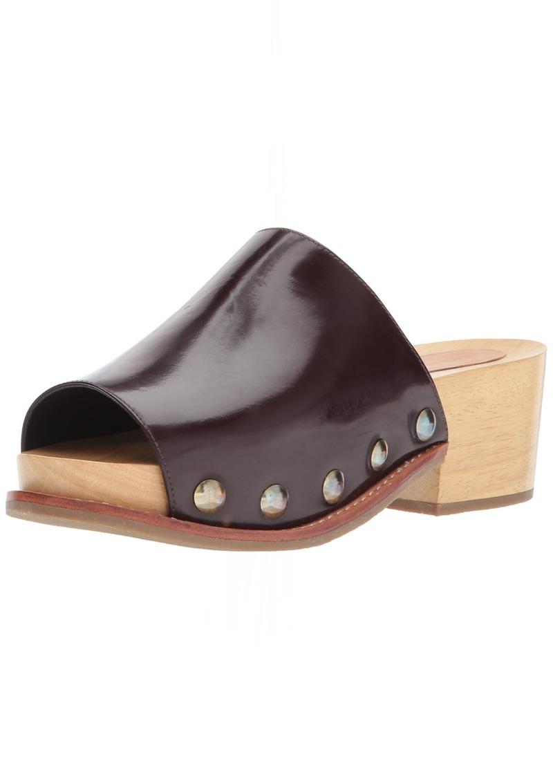 Rachel Comey Women's Dover Platform Sandal Bordo satinado  M US