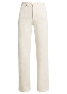 Rachel Comey Workwear high-rise straight-leg denim jeans