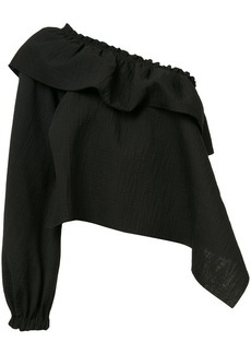 Rachel Comey ruffled one shoulder blouse