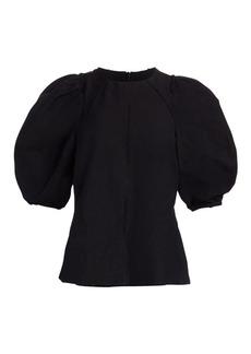 Rachel Comey Sambuco Puff-Sleeve Top