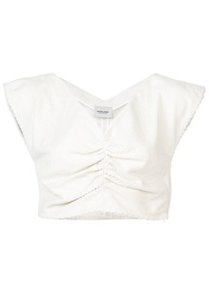 Rachel Comey scallop detail cropped top