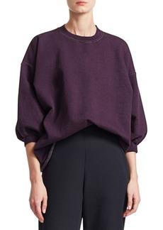 Rachel Comey Sweats Fond Raw Collar Drop Sleeve Sweatshirt