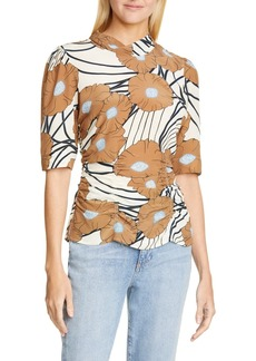 Rachel Comey Trifle Floral Print Silk Top