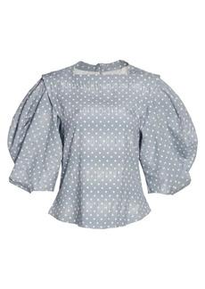 Rachel Comey Vestry Puff-Sleeve Top