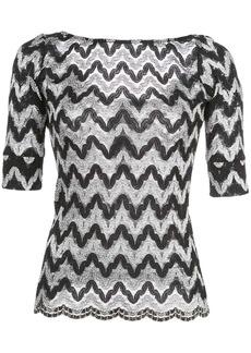 Rachel Comey zig-zag knitted top