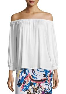 Rachel Pally Ayumi Off-the-Shoulder Top  White