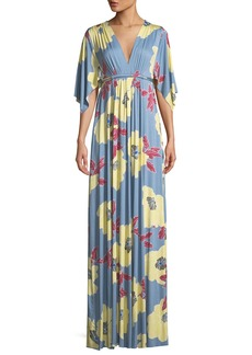 Rachel Pally Bloom-Print Long Caftan Dress