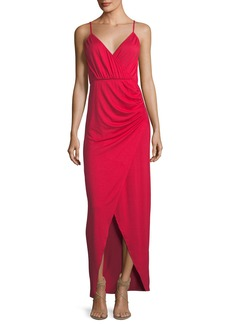 Rachel Pally Britta Spaghetti-Strap Surplice-Neck Cutaway Maxi Dress