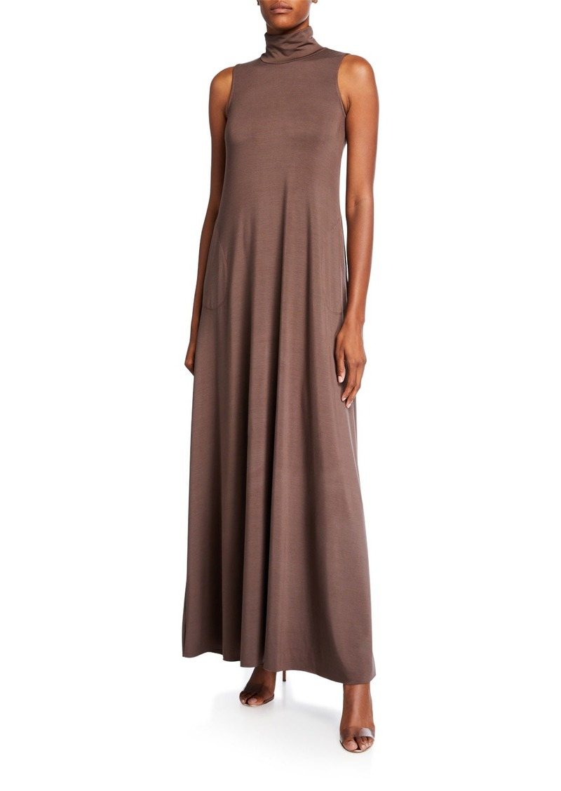 Rachel Pally Cait Mock-Neck Sleeveless Long Dress