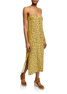Rachel Pally Clarise Printed Button-Down Shift Midi Dress