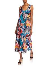 Rachel Pally Danni Printed Sleeveless Button-Front Crepe Dress