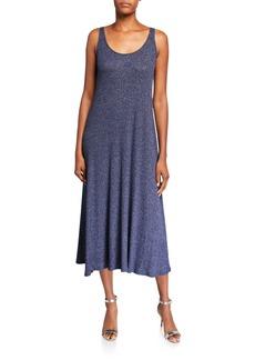 Rachel Pally Fiona Metallic Rib Sleeveless Midi Dress