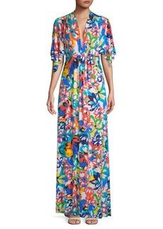 Rachel Pally Floral Floor-Length Dress