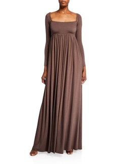 Rachel Pally Isa Long-Sleeve Jersey Maxi Dress