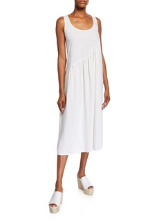 Rachel Pally Janie Sleeveless Shirred Linen Dress
