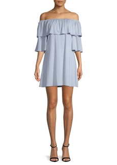 Rachel Pally Kylian Off-The-Shoulder Mini Dress