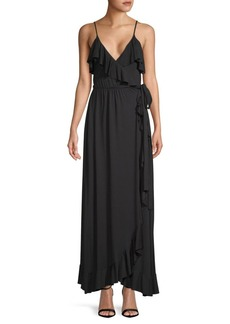 Rachel Pally Lita Ruffled Tie Maxi Dress