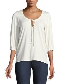 Rachel Pally Logan 3/4-Sleeve Tie-Front Top  Plus Size