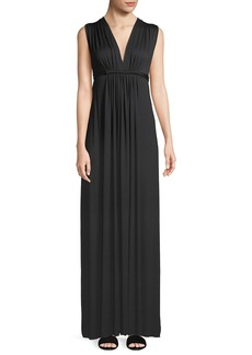 Rachel Pally Long Sleeveless Empire-Waist Caftan Dress