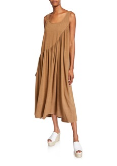 Rachel Pally Plus Size Janie Sleeveless Shirred Linen Dress