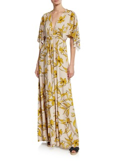 Rachel Pally Plus Size Lily-Print Caftan Maxi Dress