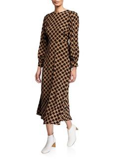 Rachel Pally Plus Size Zola Dot-Print Long-Sleeve A-Line Dress