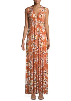 Rachel Pally Long Sleeveless Zahara-Print Dress