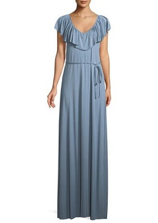 Rachel Pally Loren Ruffled-Yoke Long Dress