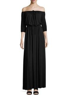 Rachel Pally Lorenzia Off-the-Shoulder Maxi Drama Dress
