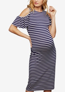Rachel Pally Maternity Ribbed Cold-Shoulder Dress