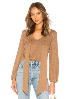 Rachel Pally Metallic Rib Juliet Sweater Top