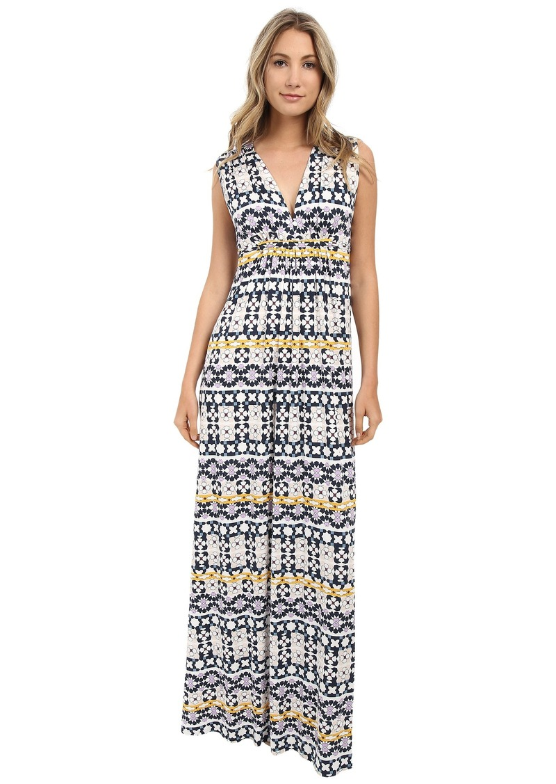 Rachel Pally Printed Long Sleeveless Caftan Dress