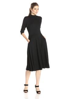 Rachel Pally Women's Constantine Mock-Neck Flare Dress