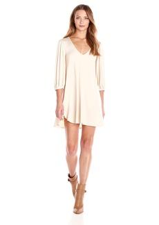 Rachel Pally Women's Ezra V-Neck Puff Sleeve Babydoll Dress
