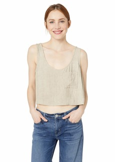 Rachel Pally Women's Linen Pocket Tank  S