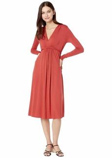 Rachel Pally Women's Long Sleeve Mid Length V-Neck Dress