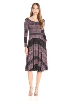 Rachel Pally Women's Long Sleeve Printed Lovely Dress Black Block