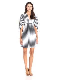 Rachel Pally Women's Mini Caftan Stripe Dress Atlantic